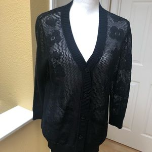 NWOT - Long Sleeve Shear Black Sweater